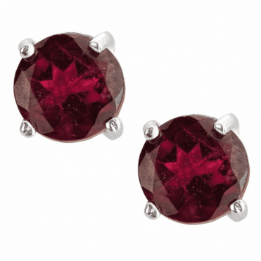 Fiery Star Bursts of Deep Red Garnet