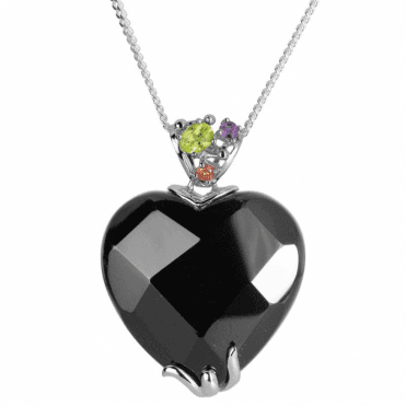 "Ladies Shipton and Co Exclusive Silver and Onyx Pendant including a 16"" Silver Chain TTL227ONMU"