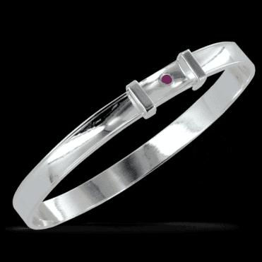 Exclusive Diamond Cut Sapphire Bangle