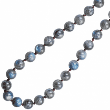 Ladies Shipton and Co Silver 28 Long Flashing Blue Labradorite Beads BKC009LB