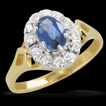 Ladies Shipton and Co Exclusive 9ct Yellow Gold and Ceylon Sapphire Ring RYX073CS