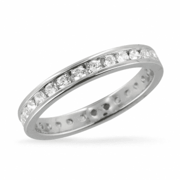Ladies Shipton and Co 18ct White Gold 9ct White Gold One Carat Full Eternity Channel set Diamond Ring TBJ043DI