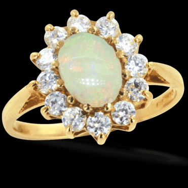 Ladies Shipton and Co Exclusive 9ct Yellow Gold and Opal Ring RY1099OPZ