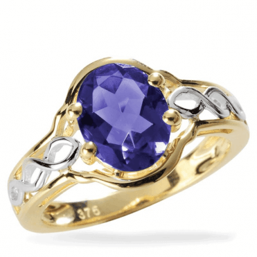 1.50ct Water Sapphire Celtic Ring