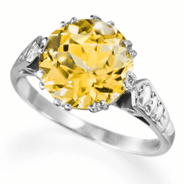 Ladies Shipton and Co Exclusive Silver and Citrine Ring RQ0105CI