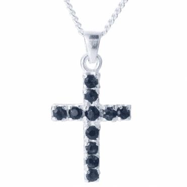 Apostles Cross of 11 Dark Sapphires