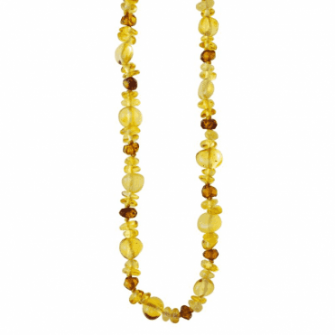 Ladies Shipton and Co Exclusive Silver and Multi Coloured Amber Endless Beads BSS063AB