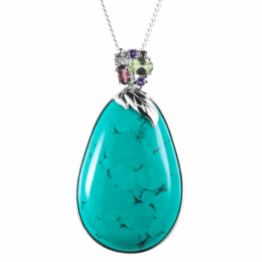 Pharaoh's Pendant of Jewelled Turquoise
