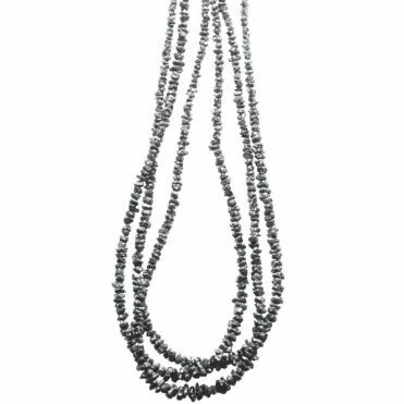 Ladies Shipton and Co Exclusive Silver and 3 Strands of Faceted Black Diamond 70cts Beads BSS067DI