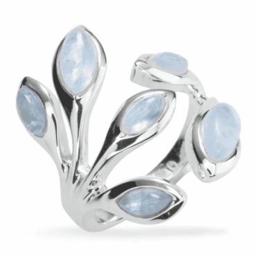 Ladies Shipton and Co Silver and Moonstone Ring TJP004MS