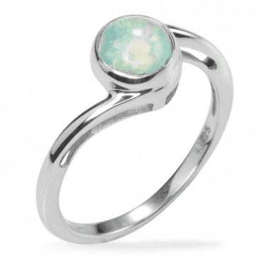 Abyssinian Opal Ring with a Classical Twist