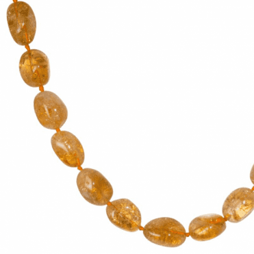 "A 28"" Tumble of Beautiful Quality Citrine Pebbles"