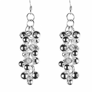 Ladies Shipton and Co Silver Bubbles Drop Earrings BKA002NS