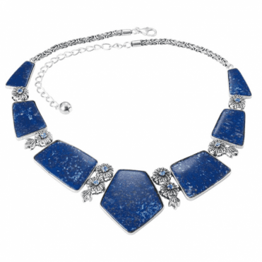 Europa Necklet of Lapis and Blue Topaz