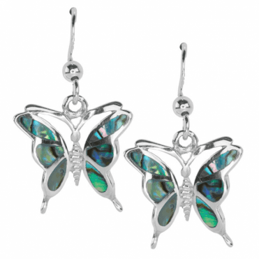 Paua Shell Butterfly Earrings