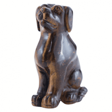 Shipton and Co Two Inch Tiger Eye Dog Carving CMH021TE