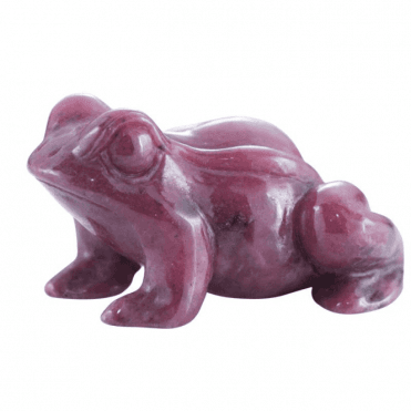 Shipton and Co Two Inch Rhodonite Frog Carving CMH006RD