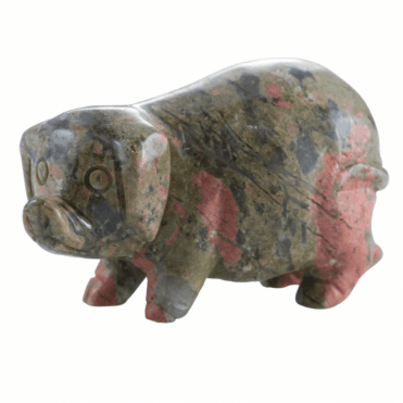 Shipton and Co Two Inch Epidote Pig Carving CMH007EP