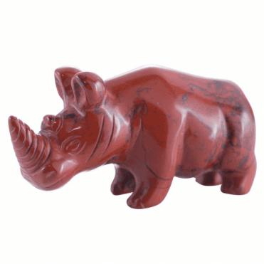 Red Jasper Rhino