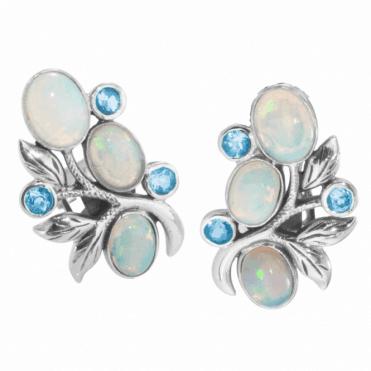 Cascades of Opals & Blue Topaz