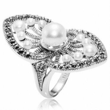Pearl & Marcasite Palm