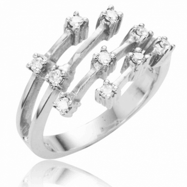 Ladies Shipton and Co 9ct White Gold 30pt Fallings Stars Diamond Ring TAR269DI