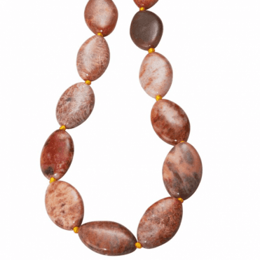 "28"" Extravagance of Fossilised Coral Beads"