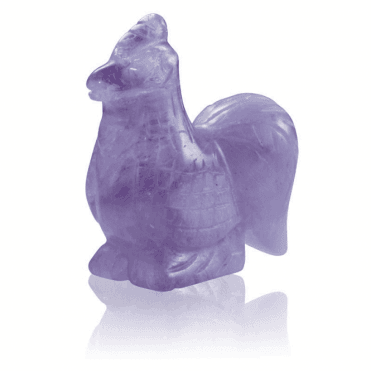 Ladies Shipton and Co  Two Inch Amethyst Chicken Carving CWT005AM