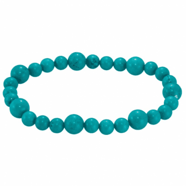 Ladies Shipton and Co 6mm and 8mm Turquoise Beads Expanding Bracelet BVL002TQ