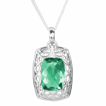 "Ladies Shipton and Co Exclusive Silver and Flourite Pendant including a 16"" Silver Chain PQA421FL"