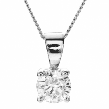 Classic White Gold and Half Carat Diamond Pendant