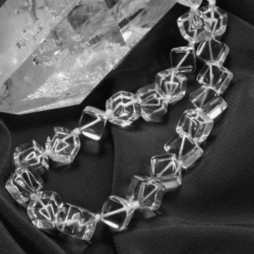 Ladies Shipton and Co Silver and Rock Crystal Beads BKC019RC