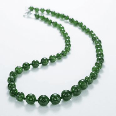 Ladies Shipton and Co Silver and Diopside Beads BVL012DO