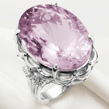Ladies Shipton and Co Silver and Pink Amethyst Ring RQA424PN