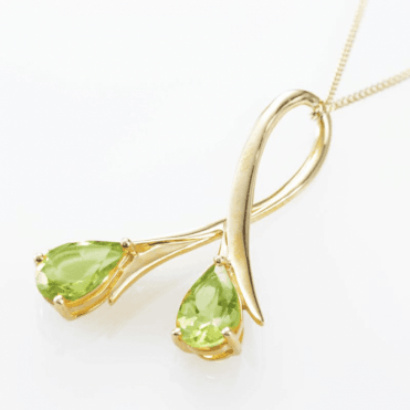 Golden Trumpets of Peridot Brightness Pendant