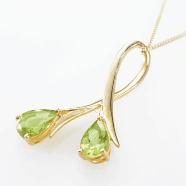Golden Trumpets of Peridot Brightness Pendant