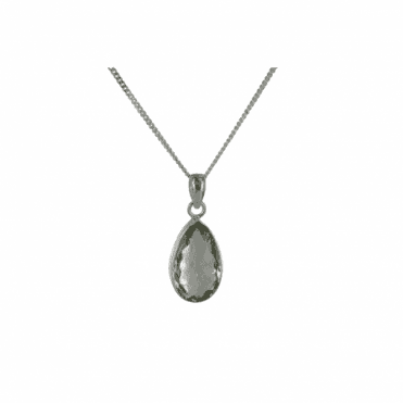 "Ladies Shipton and Co  Silver and Green Amethyst Pendant including a 16"" Silver Chain  TMV002GM"