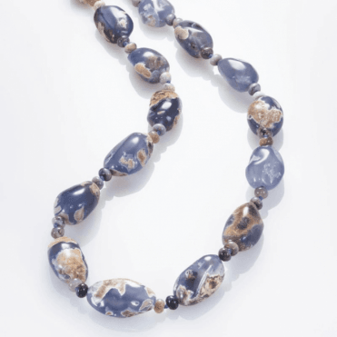 """28"""" Nature Trail in Chalcedony & Sage Amethyst"""