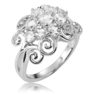 Ladies Shipton and Co Silver and White Topaz Ring RQA490WT