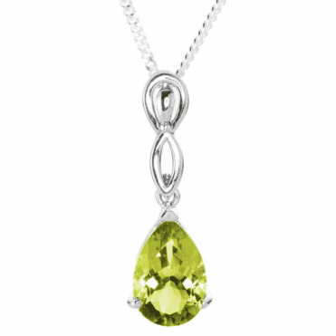 Ladies Shipton and Co Exclusive Silver and Green & Yellow Quartz Pendant including a 16 Silver Chain PQA469GQ