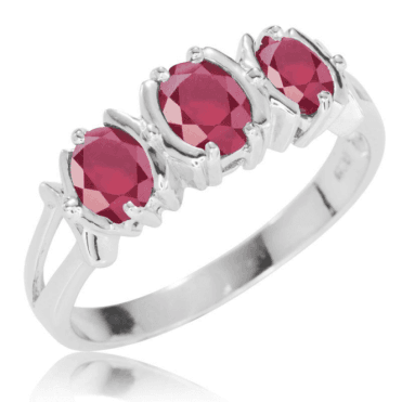 Superior Trine Ruby Ring for Only £85