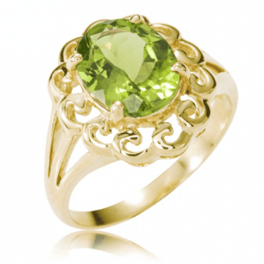 9ct Gold Ring Frames Light-Filled 2¾ct Peridot