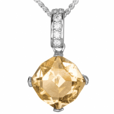 Ladies Shipton and Co Silver and Citrine Pendant including a 16 Silver Chain TYS147CICZ