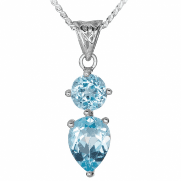 Bright Blue Topaz with Celtic Style Nuances
