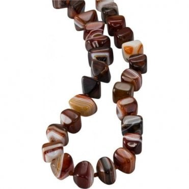 Ladies Shipton and Co Silver and Agate Beads BWT004AG