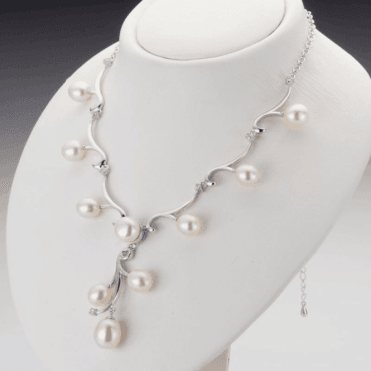 Cascade of Pearls with Crystal Brightness