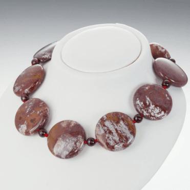 Ladies Shipton and Co Silver and Jasper Beads BFE042JAGR
