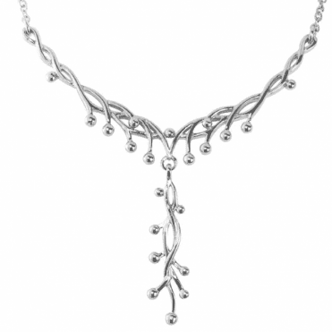 Ladies Shipton and Co Silver Necklace NQP168NS
