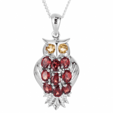 Ladies Shipton and Co Exclusive Silver and Garnet Pendant including a 16 Silver Chain PQA519GRCI