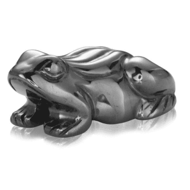 Ladies Shipton and Co Hematite Frog Carving CMH004HM